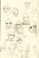 Rise Of The Guardians sketchdump by OnigirixPlushie