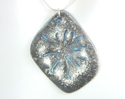 Blue Fireworks Pendant by Kayfin