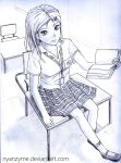 PSHS girl on desk by nyanzyme