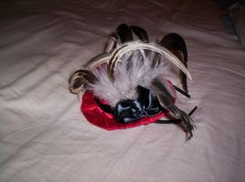 Mini Top Hat with feathers by GothicDorothy