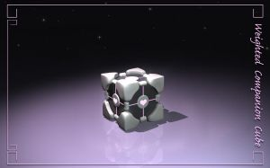 Companion Cube Wallpaper by kovah
