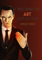 Jim will burn you - Sherlock fb cover by YuriOokino