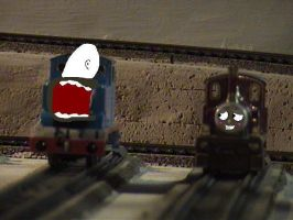 Thomas and Lady, SAY WHA??? by missoliverandblossom