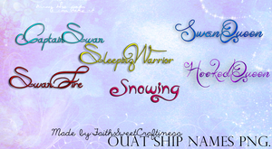 PNG OUAT Ship Names. by faithsweetcraftiness