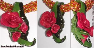 Rose Pendant -Remade- by immortaldesigns