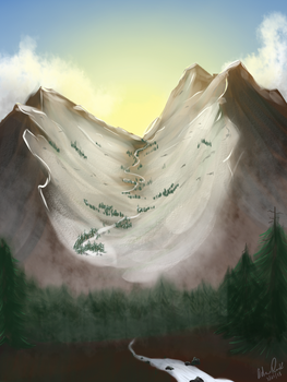 Morning Mountains by Ziggy-Pasta