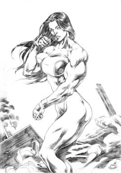 She Hulk!!! by UZOMISTUDIO