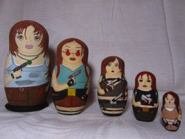 Lara Croft as Matryoshka Nesting Doll by OneMorePike
