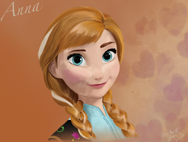 Anna by Frozen by LouisisanaXAngel