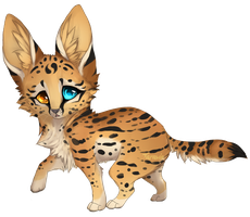 auction: Baby serval adoptable by Taravia