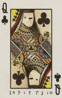 Bird- Queen of Clubs ACEO by SethFitts