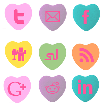 Social Media Icon Conversation Hearts by StacyO