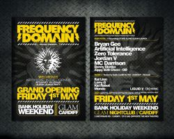 Frequency Domain Flyer Design by 54NCH32