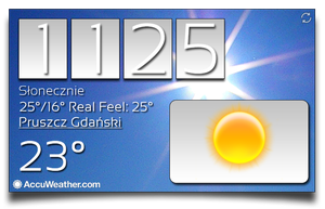 [4x2] Awesome Real Weather Widget by Slavoo123