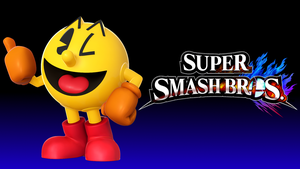 Super Smash Bros. 4 Wallpaper - Pac-Man by TheWolfGalaxy