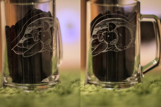 Beer Glass Engraving by MrTaxiSock