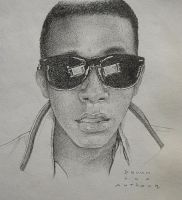 Self Portrait Drawing 03 by AnthonyAKABenny