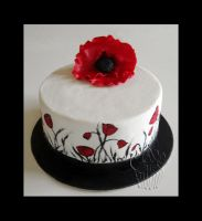 Poppy Cake by CakeUpStudio