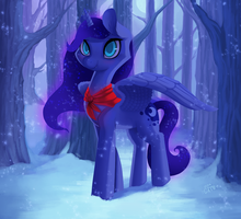 Snowy Night Luna - Day 38 by Miss-Cats