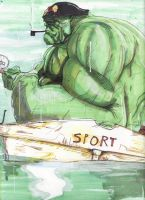 Hulk Fishing Rockwell by boricuanart