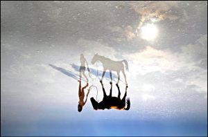 walking on the water, by salihguler