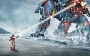 pacific rim vs Ironman by madecho