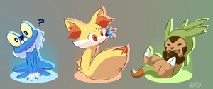 Cutest Pokemon Starters by aquamizuko