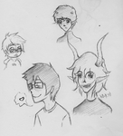 Homestuck sketch dump by nvr-sht-nvr