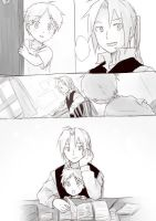 Edward Elric and his son 2 by lovefma