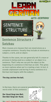 Learn German - Sentence Structure/ Satzbau by TaNa-Jo