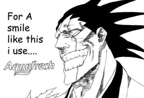 Kenpachi aquafresh. by I-grogan