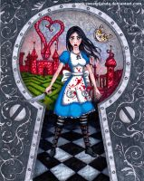Alice Madness returns, Game cover (colour version) by nuuira