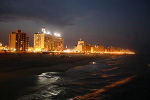 Virginia Beach looking North by DonLeo85