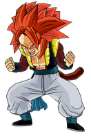 Gotenks SSj4 by RobertoVile