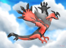 Soaring Yveltal by Rose-Beuty