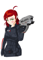 Commander Femshep by MentorErico