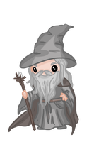Chibi: Gandalf by Ijen-Ekusas