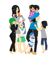 A Big Chaotic Family by Kaga-Wolf