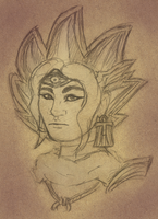 Atem Realistic Sketch by darkeninglight666