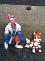 Earthworm Jim and Classic Tails the fox figures by DanielMejia12