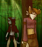 Thief in the Woods by Kintupsi