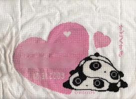 Tarepanda Love - Cross-Stitch by rosey175