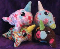 Pile O Narwhals by WhimzicalWhizkerz