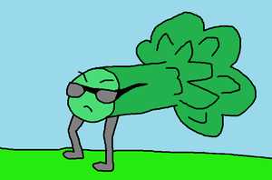 Badass Walking broccoli by BlueEvelyn