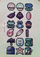 Pastel goth color scale Mario World 3 stitch by PolygonRainbow