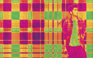 Zayn Plaid Wallpaper 4 by iluvlouis