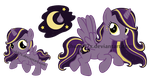 My Little Pony Adoptable - Moon Drop by chunk07x