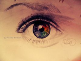 Eye drawing trial 2 by drawmyownworld