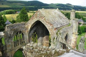 Scotland, Melrose Abbey above by elodie50a