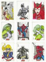 Complete Avengers sketch pg. 3 by jasonsobol